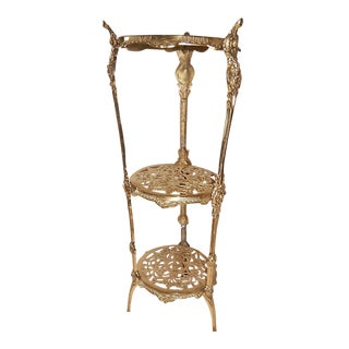 Brass Cherub Face Accent Table