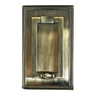 Mid-Century Burnished Brass Door Knocker
