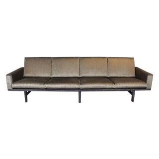 Hans Wegner Cherused Oak Frame & Velvet Sofa