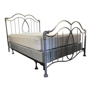 Gray Metal Queen Bed