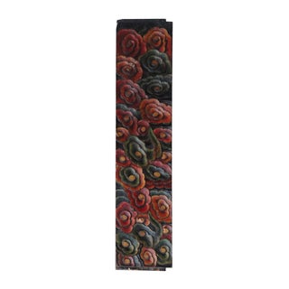 Chinese Painted Multi-Color Wood Carving Panel