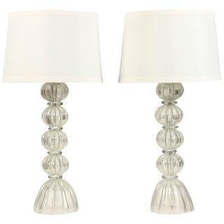 Silver Murano Lamps