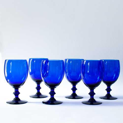 Cobalt Wine Glasses - Set of 6 - Image 2 of 3