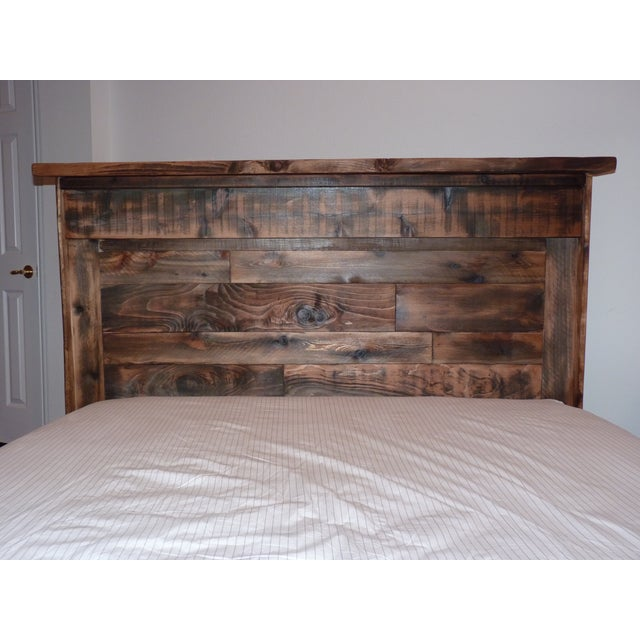 Shabby Chic Reclaimed Wood Queen Bed Frame - Image 3 of 6