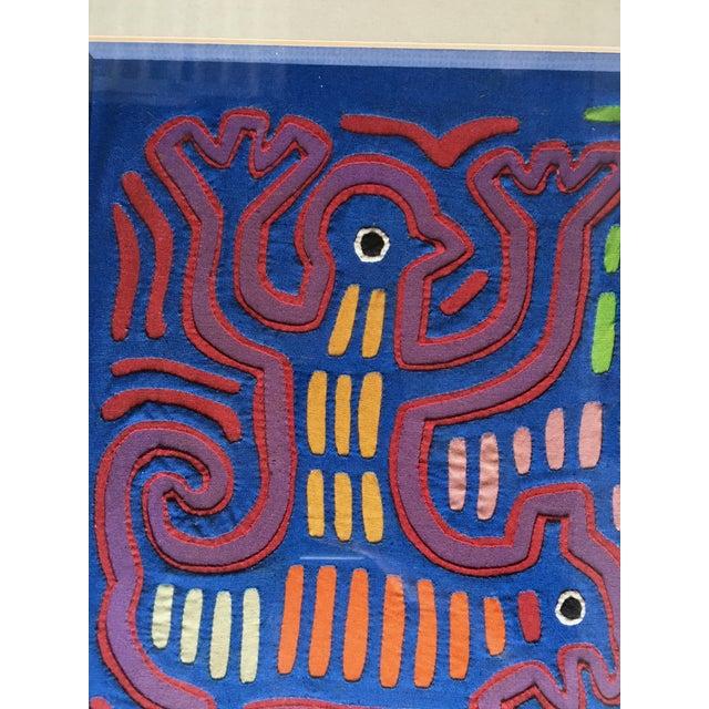 Vintage Indian Mola Framed Textile Art - Image 9 of 10