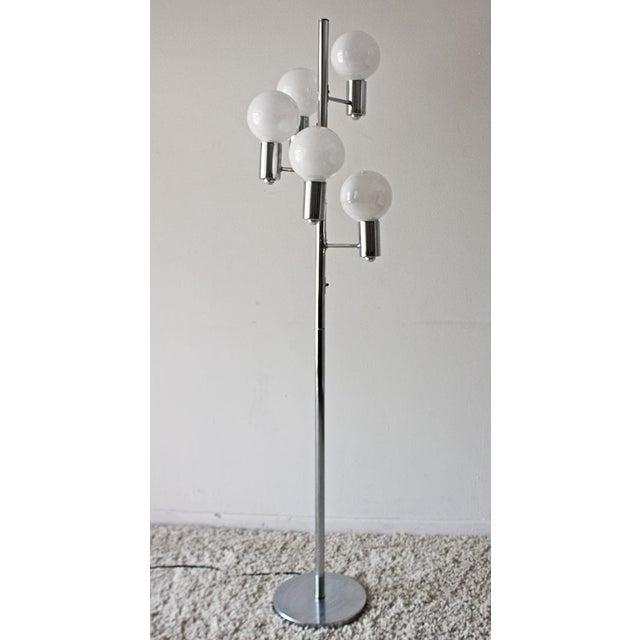 Image of Mid-Century Modern Chrome Floor Lamp