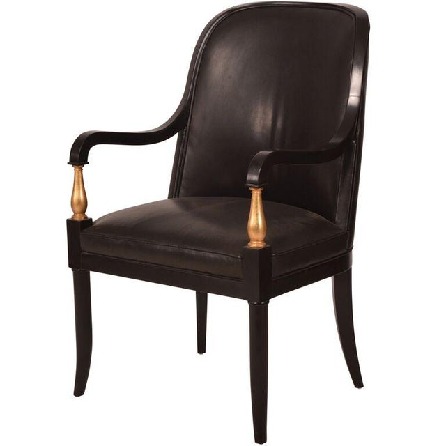Andre Arbus Baker Leather Arm Chairs - A Pair - Image 1 of 5