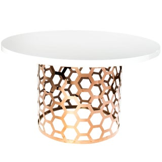 White & Gold Laguna Dining Table