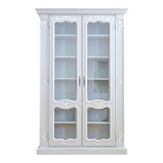 Old European Linen Armoire or Bookshelf