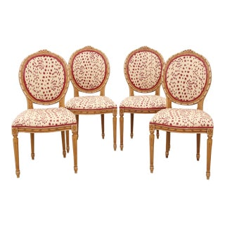 Louis XVI Les Touches Dining Chairs - Set of 4