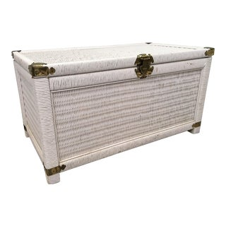 Vintage Wicker and Rattan Trunk