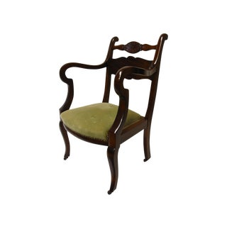 Antique Mahogany French Restoration Style Chair