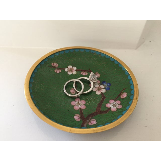 Small Green Cloisonne Dish - Image 6 of 6
