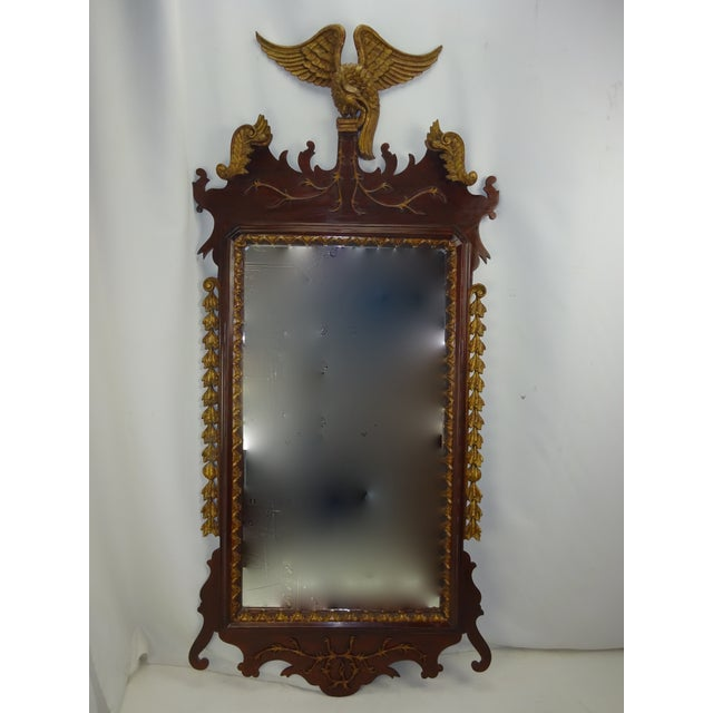 Federal Carved Wood Eagle Gilt Mirror - Image 2 of 9