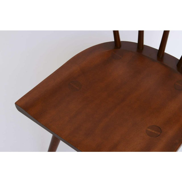 Single Paul McCobb Spindle Back Chair in Dark Maple - Image 6 of 9