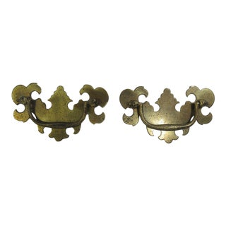 Ethan Allen Georgian Court Chippendale Dresser Drawer Handles Hardware - A Pair