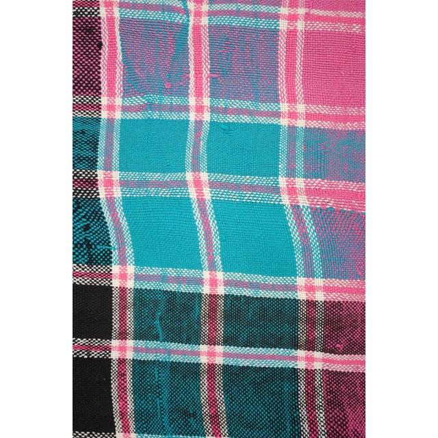 Vintage Moroccan Cotton Blanket - Image 3 of 6