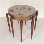 Image of Fornasetti Style Stacking Tables - Set of 3