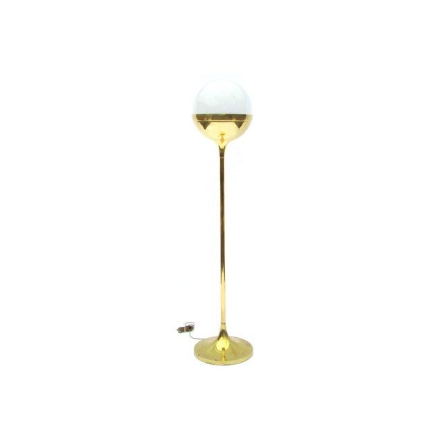 Mid century german brass floor lamp chairish for German floor lamps