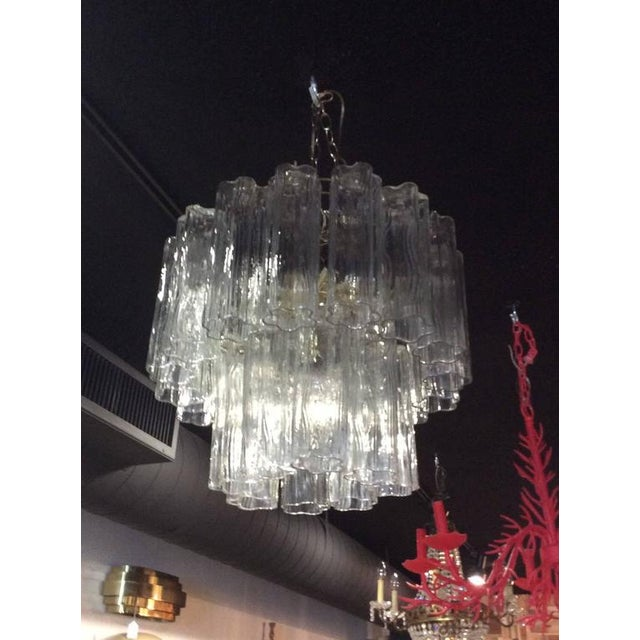 Vintage Murano Glass Chandelier Tronchi - Image 10 of 11