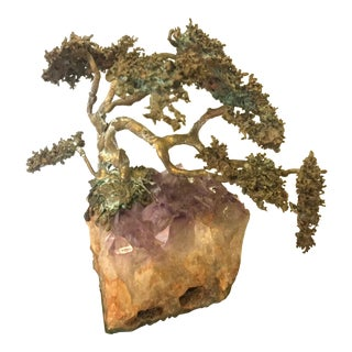 Brass Tree on Amethyst by Bell