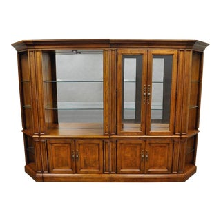 Thomasville British Gentry Wall Unit Display Cabinet Bookcase Bookshelf - 4 Pc.