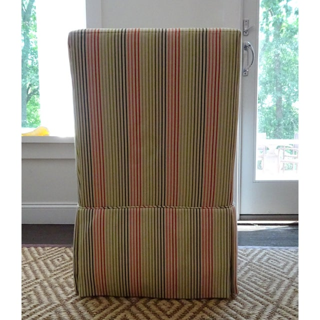 Stripped High Back Slipper Chair - Image 6 of 7