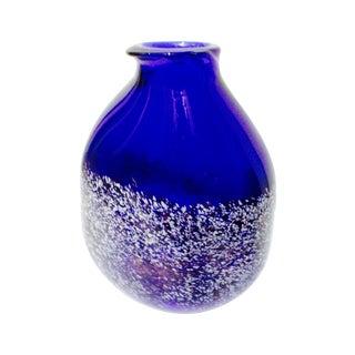 Hand-Blown Cobalt Artisan Vase