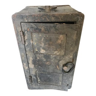 Solid Iron Antique Train Lock Box