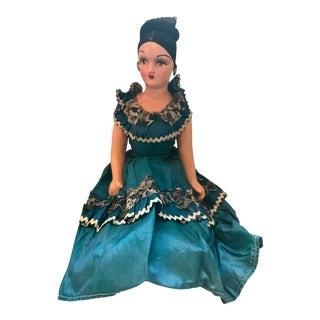 1920s Vintage Spanish Senorita Handmade Boudoir Doll