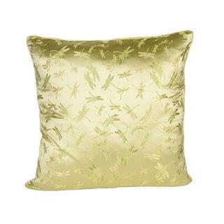 Silk Green Dragonfly 26x26 Pillow