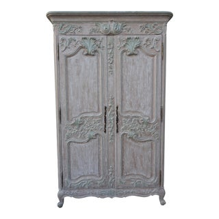 French Louis XV Style Carved Armoire