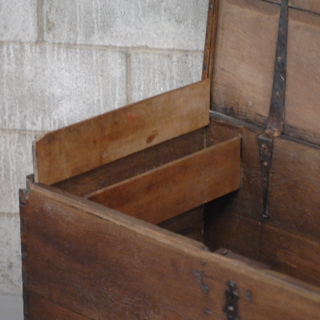 Antique European Trunk With Hidden Casters - Image 4 of 7