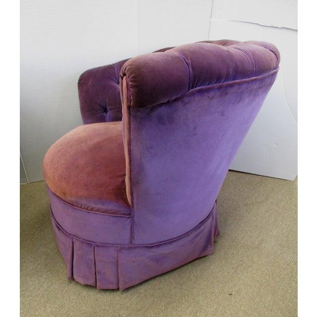 Purple Velvet Nautilus Chairs - Pair - Image 4 of 6