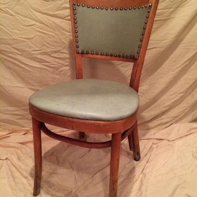 antique thonet bentwood chair green upholstery chairish. Black Bedroom Furniture Sets. Home Design Ideas