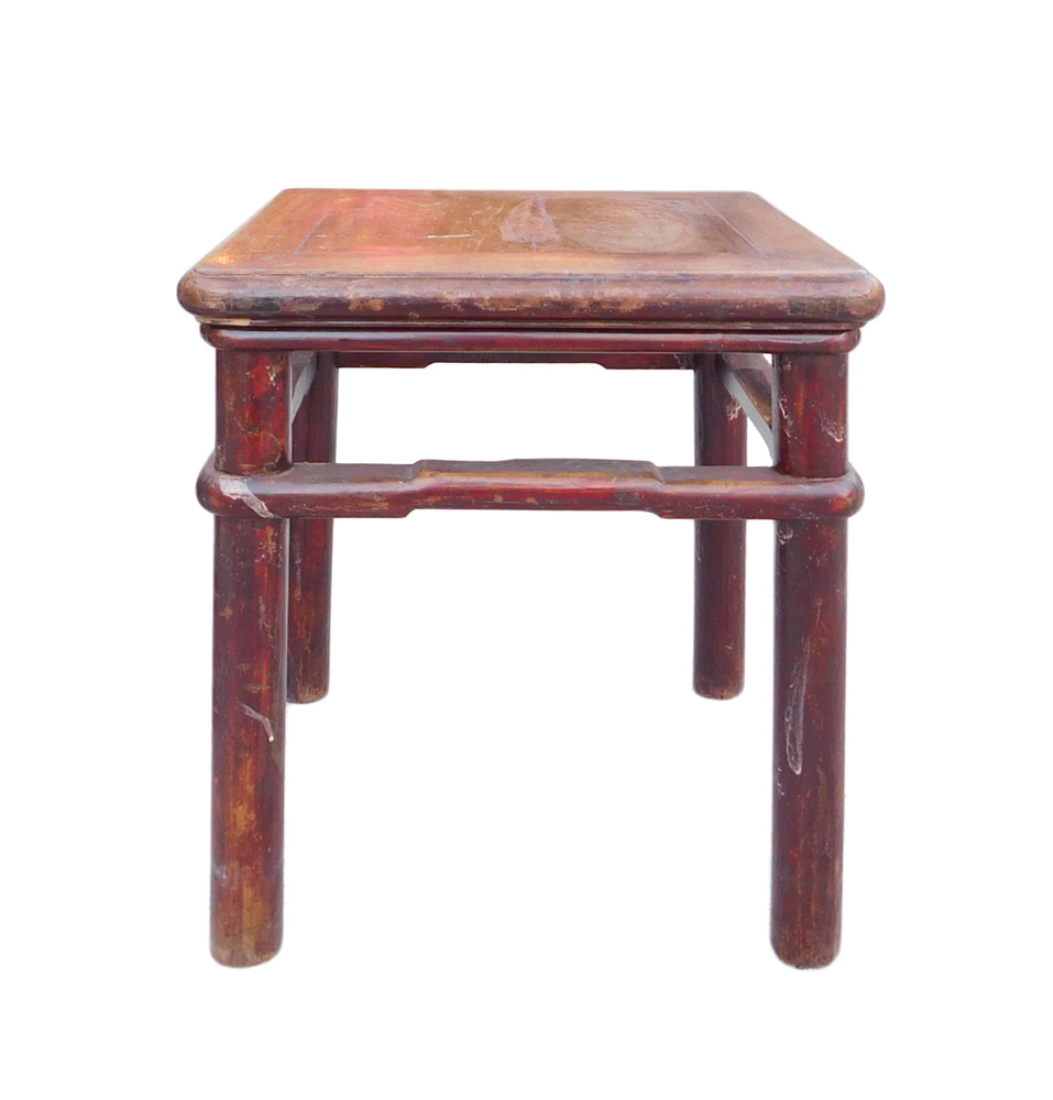 Chinese Handmade Vintage Finish Square Stool Table Chairish