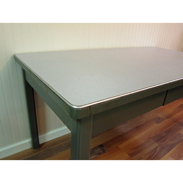 Mid-Century Haskell of Pittsburgh Industrial Table - Image 6 of 9