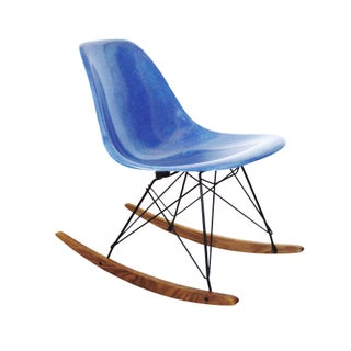 Herman Miller Blue Rocking Chair