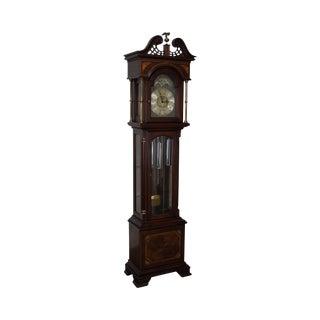 Ridgeway 1976 Bicentennial Mahogany Inlaid Grandfather Clock