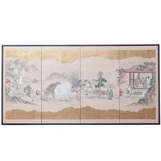 Japanese Kano School Screen