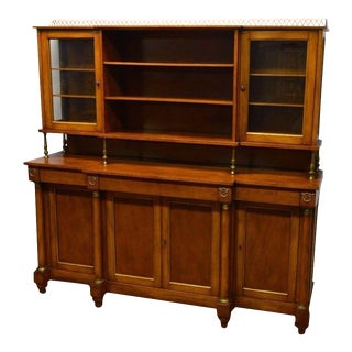 Regency Style Cherry Sideboard Buffet Breakfront