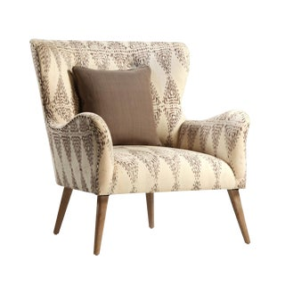 Contemporary Linen Arm Chair