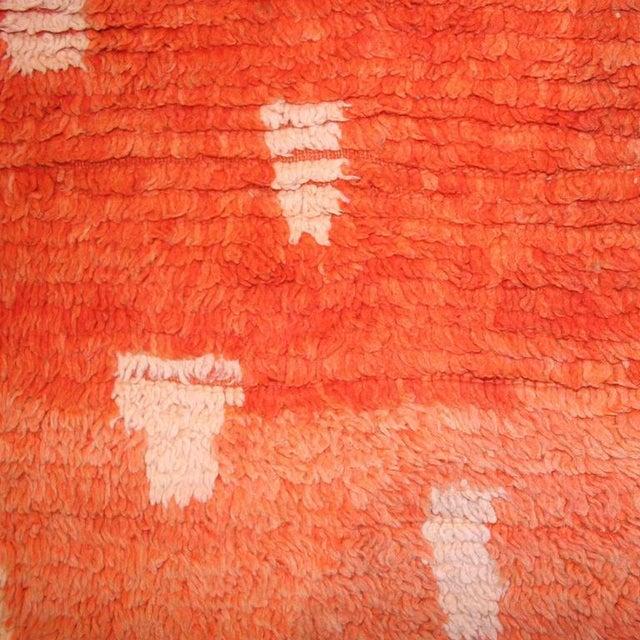 Image of Rehamna Animal Pelt Design Vintage Berber Carpet