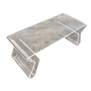 Modern Freeform Acrylic Coffee Table