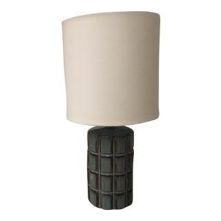 Blue & Brown Stone Lamp