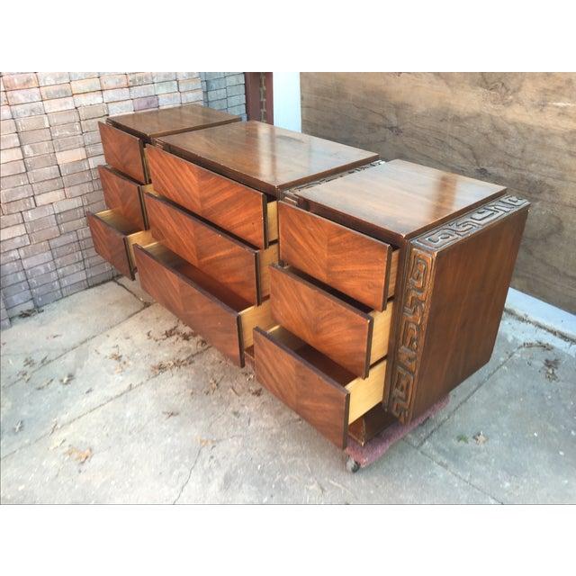 United Furniture Vintage 1970s Brutalist Dresser - Image 4 of 5