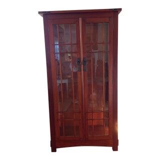 Solid Mahogany Curio Cabinet