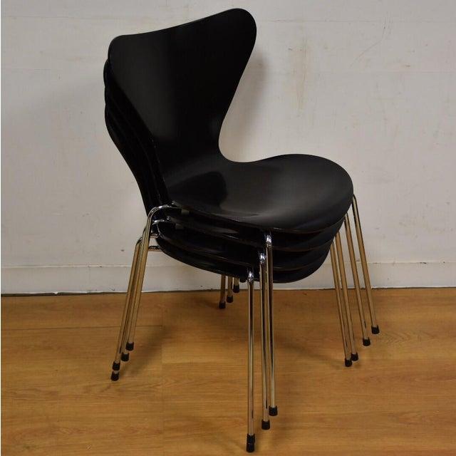 Arne Jacobsen Fritz Hansen Chairs - Set of 4 - Image 10 of 11