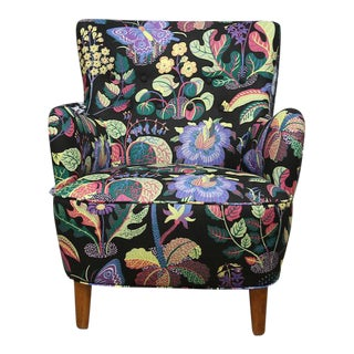 Josef Frank Upholstered Wingback Chair