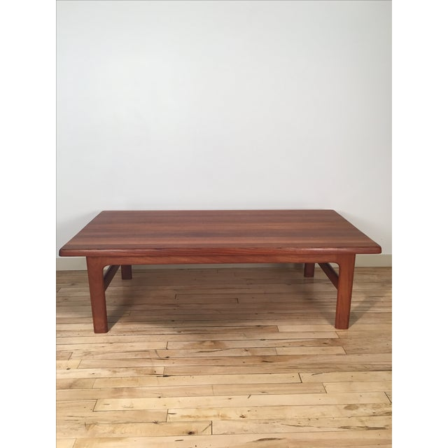 Solid Teak Danish Modern Coffee Table - Image 2 of 6